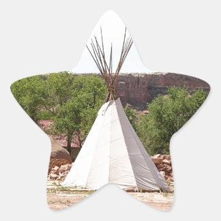 Indisch tipi, pioniersdorp, Utah Ster Sticker