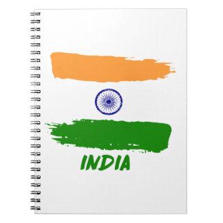 Indisch vlagdesign notitieboek