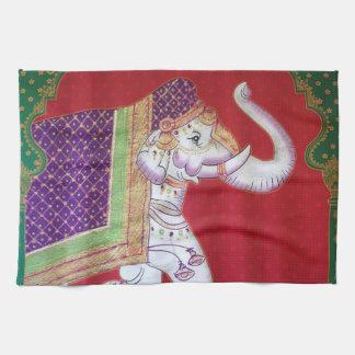 Indische de keukenhanddoek van de kunstolifant