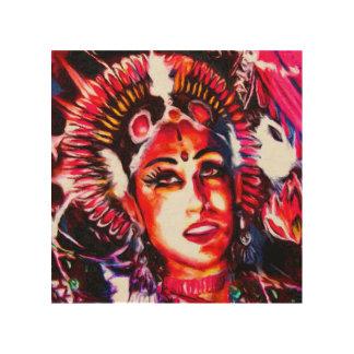 Indische godin | Devi Hout Afdruk