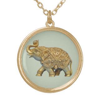 Indische Olifant Goud Vergulden Ketting
