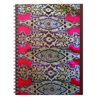 Indische Sari Design Ringband Notitieboek
