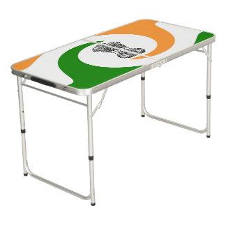 Indische spiraalvormige vlag beer pong tafel