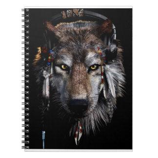 Indische wolf - grijze wolf notitieboek