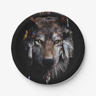 Indische wolf - grijze wolf papieren bordjes