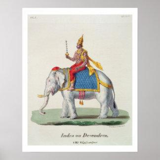 "INDRA of Devendra, van ""L'Inde francaise…"", eng Poster"