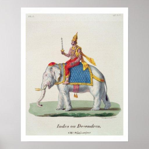"INDRA of Devendra, van ""L'Inde francaise…"", eng Plaat"