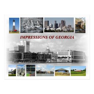 Indrukken van Georgië, de V.S. Briefkaart