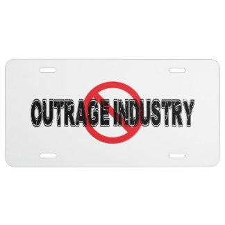 Industrie van de Verontwaardiging van het verbod Nummerplaat
