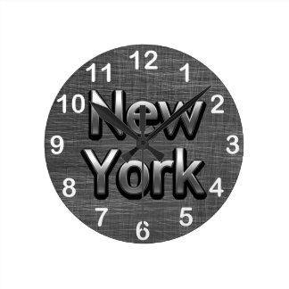 Industrieel New York - op Stedelijk Grijs Ronde Klok