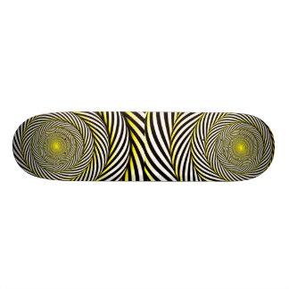Industrieel retro-Hypnotic Geel skateboard