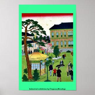 Industriële tentoonstelling door Utagawa, Poster