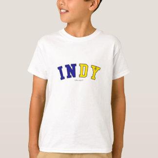 Indy in de kleuren van de de staatsvlag van t shirt