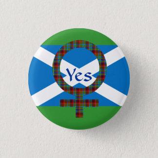 #indyref Vrouwen voor ja Schotland Pinback Ronde Button 3,2 Cm