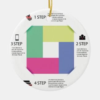 info grafisch vierkant rond keramisch ornament