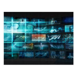 Informatietechnologie of IT Infotech als Art. Briefkaart