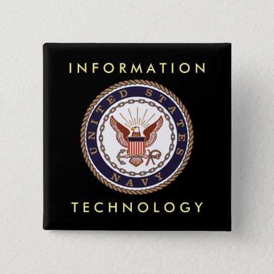 Informatietechnologie Van de MARINE van de V.S. Vierkante Button 5,1 Cm