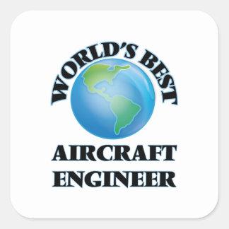 Ingenieur van het Vliegtuig van de wereld de Beste Vierkant Sticker