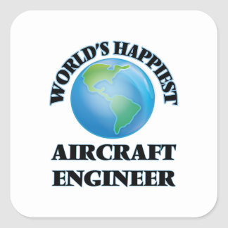 Ingenieur van het Vliegtuig van de wereld de Vierkant Sticker