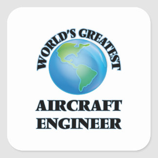 Ingenieur van het Vliegtuig van de wereld de Vierkant Stickers