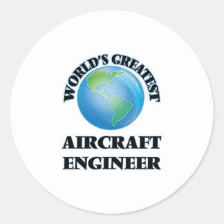 Ingenieur van het Vliegtuig van de wereld de Ronde Stickers