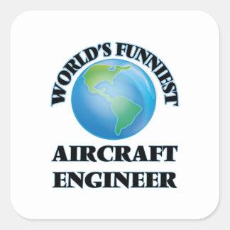 Ingenieur van het Vliegtuig van de wereld de Vierkante Stickers