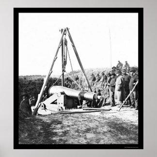 Ingenieurs die een Pistool voor Algemene Sherman 1 Poster