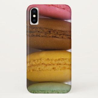 Ingevoerde gastronomische Franse macarons iPhone X Hoesje