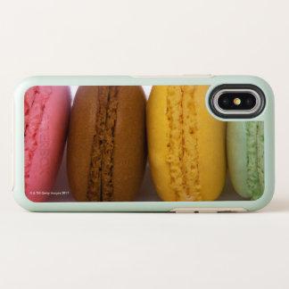 Ingevoerde gastronomische Franse macarons OtterBox Symmetry iPhone X Hoesje