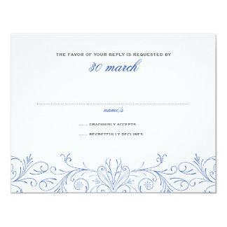 Ingewikkeld bloei Deux Huwelijk RSVP 10,8x13,9 Uitnodiging Kaart