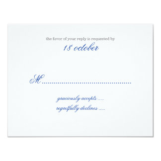 Ingewikkeld bloei Marineblauwe RSVP 10,8x13,9 Uitnodiging Kaart