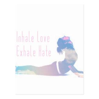 Inhaleer de Reeks van de Yoga van de Liefde Briefkaart
