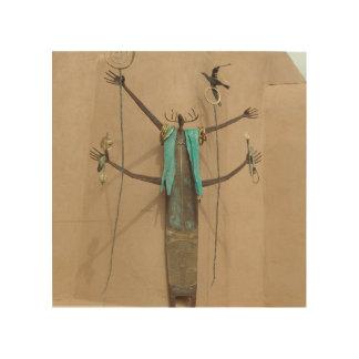 Inheems Amerikaans Beeldhouwwerk door de Galerij Hout Afdruk