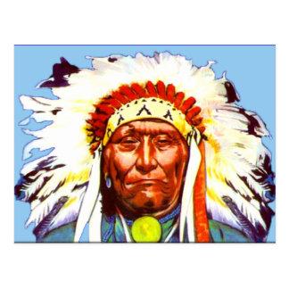 Inheems Amerikaans Belangrijkst Briefkaart