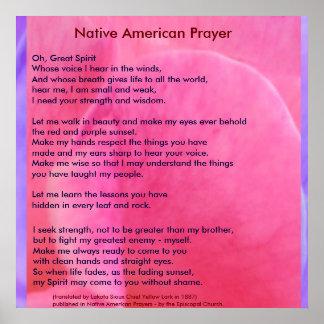 Inheems Amerikaans Gebed Poster