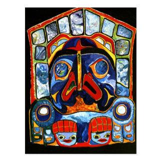 Inheems Amerikaans Masker Briefkaart