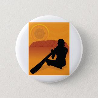 Inheems Silhouet Ronde Button 5,7 Cm