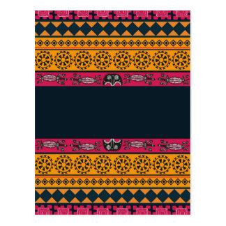 Inheems Stammen Roze en Oranje Art. Briefkaart