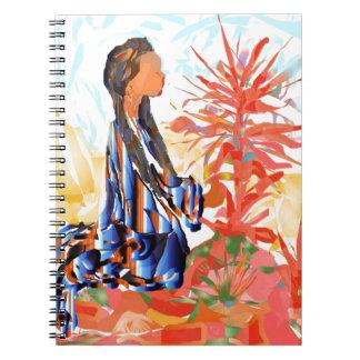 "Inheemse Amerikaan de ""Gevende Boom "" Ringband Notitieboek"
