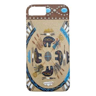 """""""Inheemse Amerikaanse Sandpainting"""" Westerne iPhone 8/7 Hoesje"""