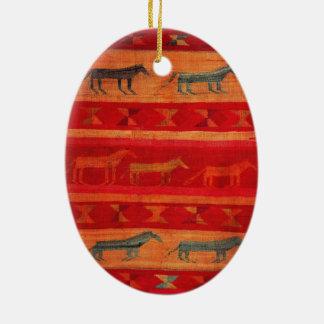 Inheemse Amerikaanse Stijl Keramisch Ovaal Ornament