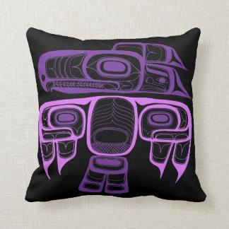 Inheemse Amerikaanse Stijl paarse Tlingit Sierkussen