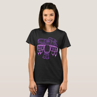 Inheemse Amerikaanse Stijl paarse Tlingit T Shirt