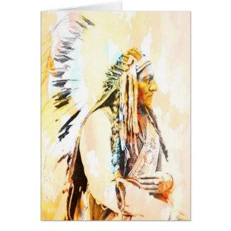 Inheemse Amerikaanse Wenskaarten van de Stier van
