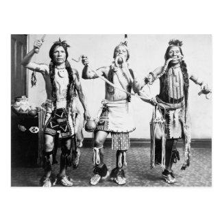 Inheemse Indianen die een slangdans uitvoeren Briefkaart