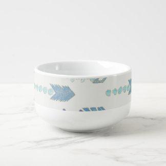 inheemse patroon van boho het elegante blauwe soepkom