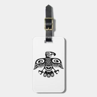 Inheemse totemvogel kofferlabels