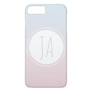 Initialen Eenvoudige Ombre van het Monogram van iPhone 8/7 Plus Hoesje