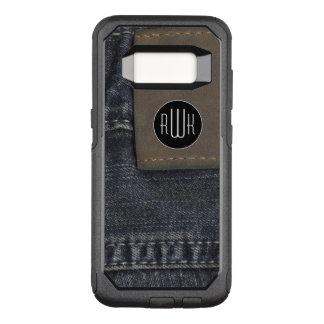 Initialen | textuur van Jeans OtterBox Commuter Samsung Galaxy S8 Hoesje