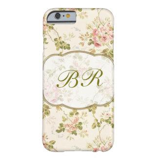 Initialen van het Monogram van dames de Bloemen Barely There iPhone 6 Hoesje